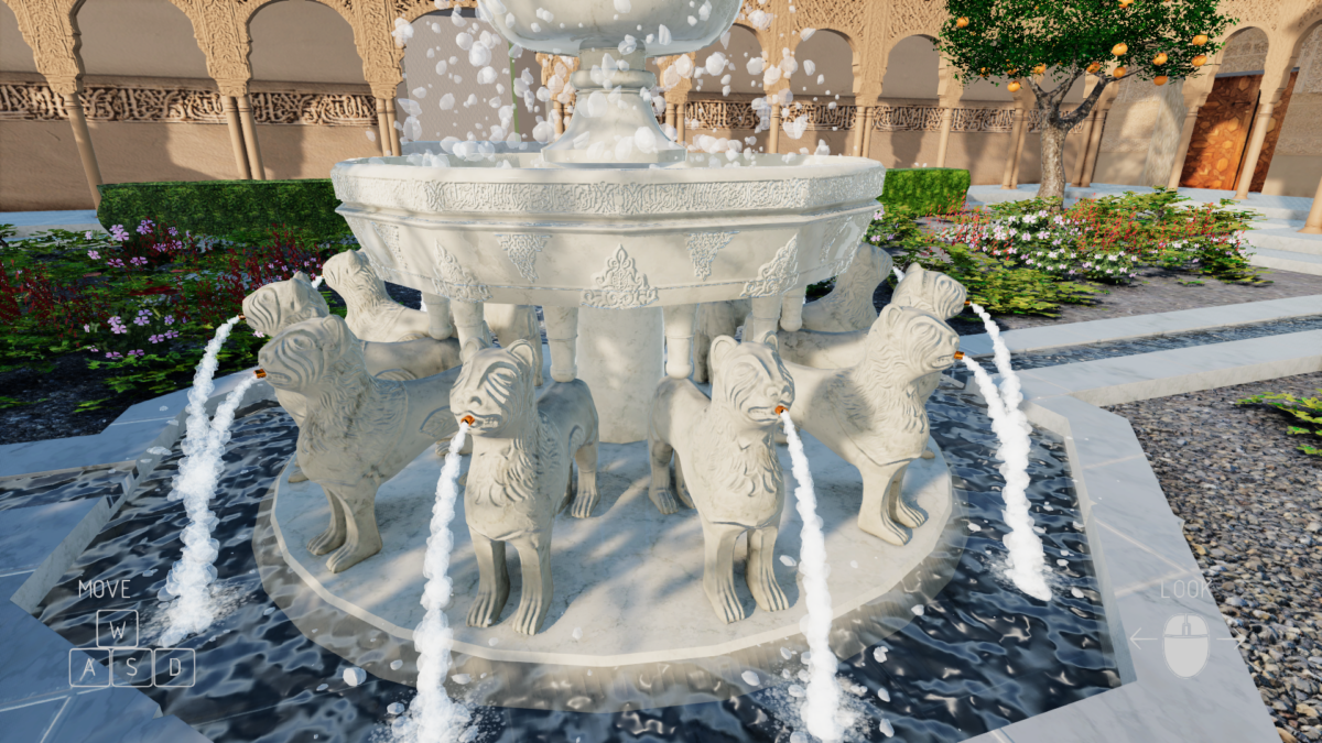 Alhambra VR - Courtyard of Lions Fountain